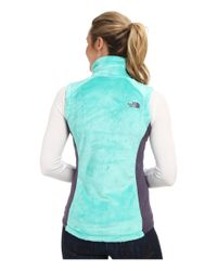 The North Face - Blue Osito Vest - Lyst