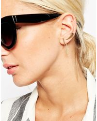 ASOS - Metallic Clean Metal Ear Crawler Cuff And Double Earring Pack - Lyst