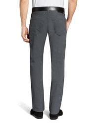 BOSS - Gray 'maine' | Regular Fit, 11 Oz Stretch Cotton Trousers for Men - Lyst
