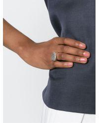 Rosa Maria - Metallic 'harir' Chunky Ring - Lyst