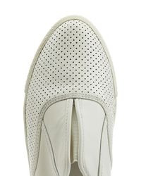 Marc By Marc Jacobs - Perforated Leather Slip-on Sneakers - White - Lyst