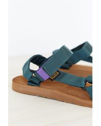 Teva - Green Suede Original Universal Men's Sandal for Men - Lyst
