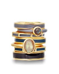 Astley Clarke | Metallic Thundercloud Centime Ring | Lyst