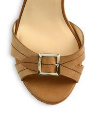 Jimmy Choo - Brown Nemesis Buckle Leather Platform Sandals - Lyst