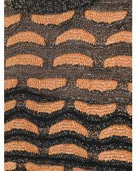 M Missoni - Black Three-Quarter Sleeve Knit Dress - Lyst