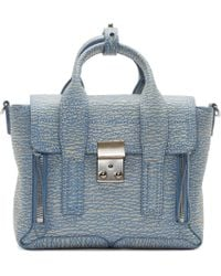 3.1 Phillip Lim - Blue Periwinkle And Cream Mini Pashli Satchel - Lyst