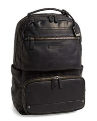 Frye | Black 'logan' Large Volume Leather Backpack for Men | Lyst
