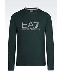 EA7 | Green Long Sleeved T-shirt for Men | Lyst