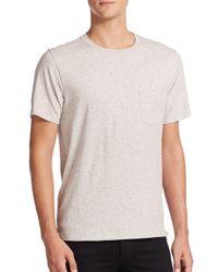Rag & Bone - Gray Tweed-print Cotton Tee for Men - Lyst