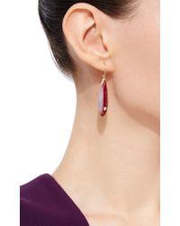 Mark Davis - Red Bakelite Earrings With Diamonds - Lyst