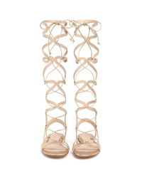 Gianvito Rossi - 'medusa' Piped Metallic Leather Gladiator Sandals - Lyst