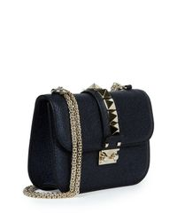 Valentino - Blue Rockstud Medium Shoulder Bag - Lyst