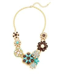 Saks Fifth Avenue | Metallic Flower Station Collar Necklace | Lyst