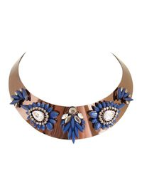 Ziba | Metallic Alyssa Statement Necklace | Lyst