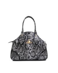 Vivienne Westwood | Black Large Yasmin Frilly Snake Bag | Lyst