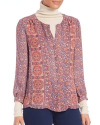 Joie | Multicolor Pazima Floral-print Silk Top | Lyst