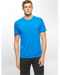 Calvin Klein - Blue White Label Performance Mesh Detail Short Sleeve Shirt - Lyst