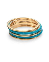 Michael Kors | Metallic Twotone Bangle Bracelet Set | Lyst