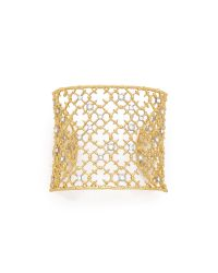 Alexis Bittar | Metallic Crystal Cuff Bracelet | Lyst