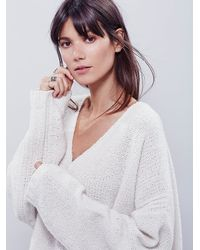 Free People | Natural Intimately Womens Cozy Time Cashmere Pullover | Lyst
