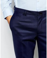 Noak - Blue Suit Trousers In Super Skinny Fit for Men - Lyst