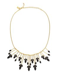 kate spade new york - Black Care To Dance Spray Necklace - Lyst