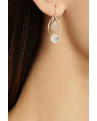Melissa Joy Manning - Pink 14-Karat Gold, Rose Quartz And Moonstone Earrings - Lyst