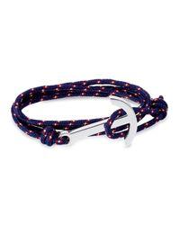 Miansai - Blue Brass Rope Hook Bracelet for Men - Lyst