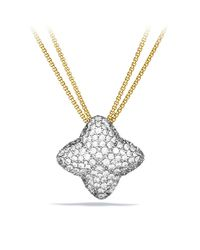 David Yurman - Metallic Quatrefoil Large Pendant Necklace With Diamonds In Gold - Lyst