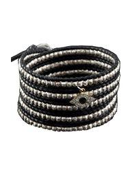 Chan Luu - Black Sterling Silver Bead Wrap Bracelet - Lyst