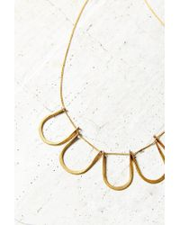 Urban Outfitters | Metallic Traveling Shapes Necklace | Lyst