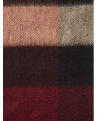 Burberry | Red 'House Check' Fringed Scarf for Men | Lyst
