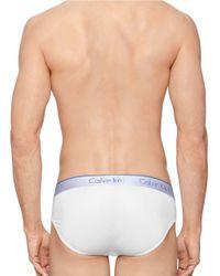 Calvin Klein   White Air Fx Hip Briefs for Men   Lyst