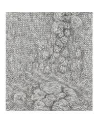 Barrie - Gray Fingerless Cashmere Gloves - Lyst
