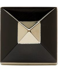 Givenchy - Metallic Gold And Black Pyramid Ring - Lyst