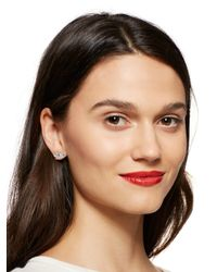 Kate Spade | Metallic Dainty Sparklers Pave Bow Studs | Lyst