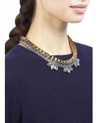 John & Pearl - Blue Meteor Gold Tone Swarovski Necklace - Lyst