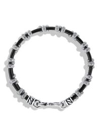 David Yurman   Metallic Cable Station Bracelet for Men   Lyst