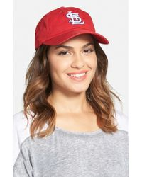 American Needle - Red 'st. Louis Cardinals' Baseball Cap - Lyst