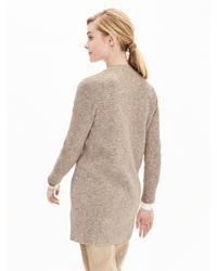 Banana Republic | Brown Ribbed Long Sweater Cardigan | Lyst