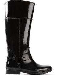 MICHAEL Michael Kors - Black 'Fulton Harness' Tall Rainboots - Lyst