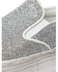 Jeffrey Campbell - Metallic 50mm Glittered Platform Sneakers - Lyst