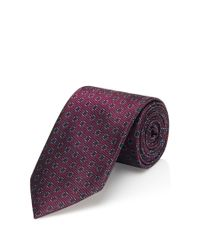 HUGO | Pink 'tie 7 Cm' | Regular, Silk Patterned Tie for Men | Lyst