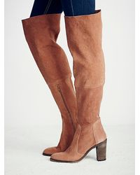 Free People - Brown Lachlan Over The Knee Boot - Lyst