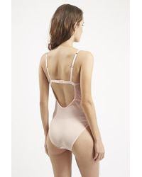 TOPSHOP - Natural Stab Stitch Body - Lyst