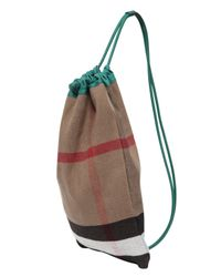 Burberry Prorsum - Natural Cotton Canvas Leather Backpack for Men - Lyst