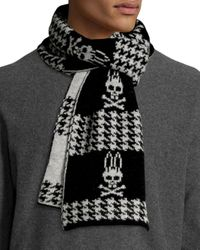 Psycho Bunny - Black Dawson Reversible Houndstooth Scarf for Men - Lyst