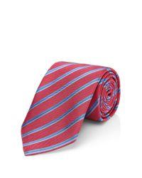 HUGO - Pink 'tie 7 Cm'   Regular, Silk Striped Tie for Men - Lyst