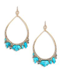 Alexis Bittar | Blue Miss Havisham Jagged Howlite Turquoise & Crystal Twisted Teardrop Earrings | Lyst