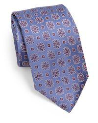 Armani - Blue Medallion Silk Tie for Men - Lyst
